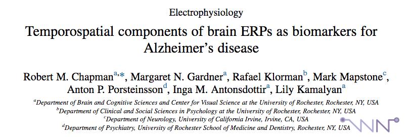 Alzheimer et ERP