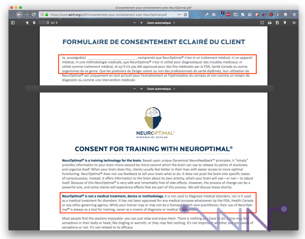 NeurOptimal et FDA (avant)