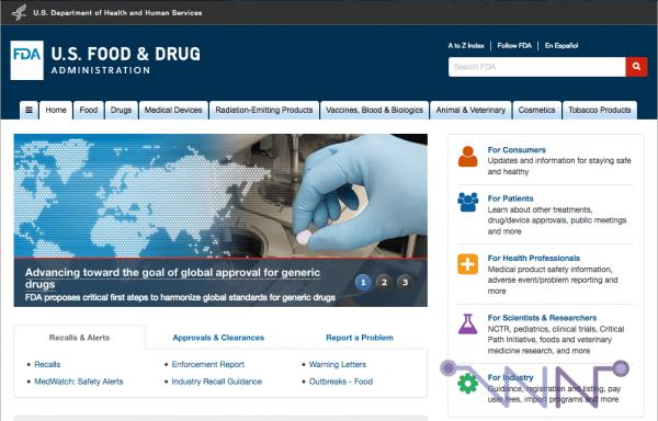 Site Web de la FDA