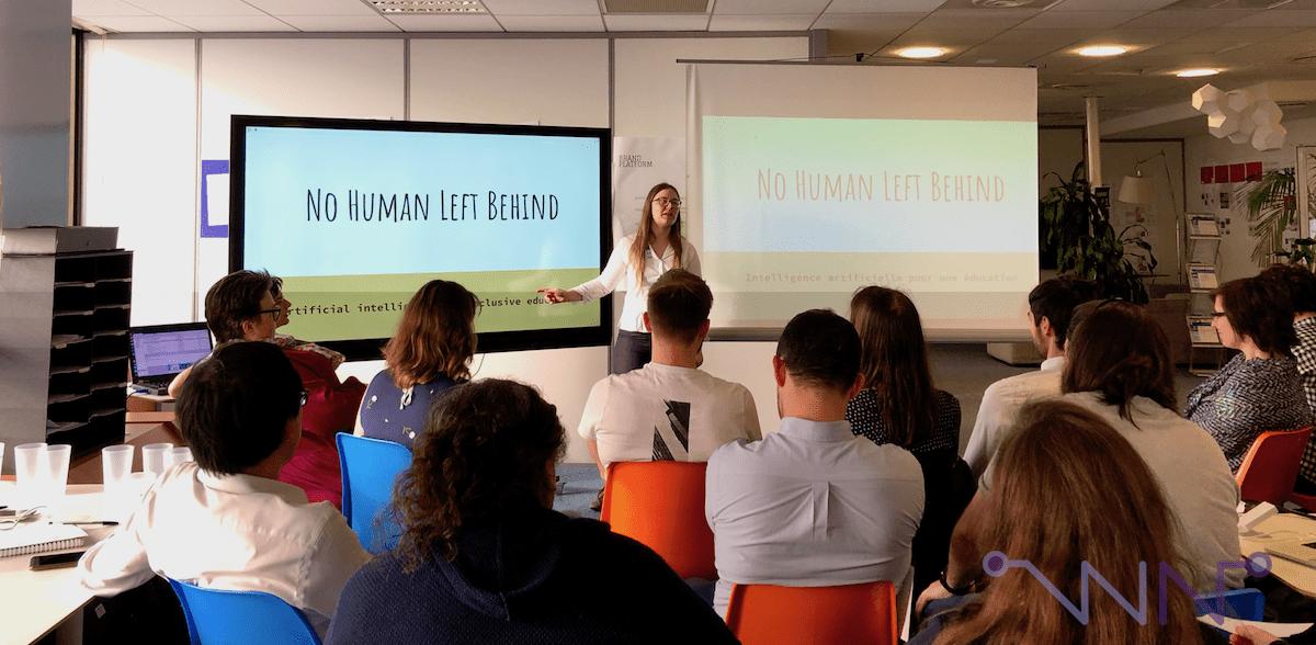 Présentation du hackathon par Emma, l'organisatrice