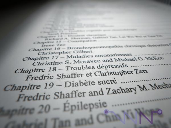 Table des matières du livre