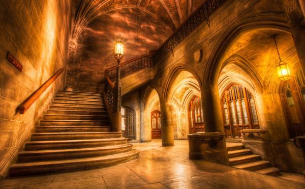 Poudlard (non, sans blague, c'est l'Université de Chicago, enfin, un de ses escaliers)