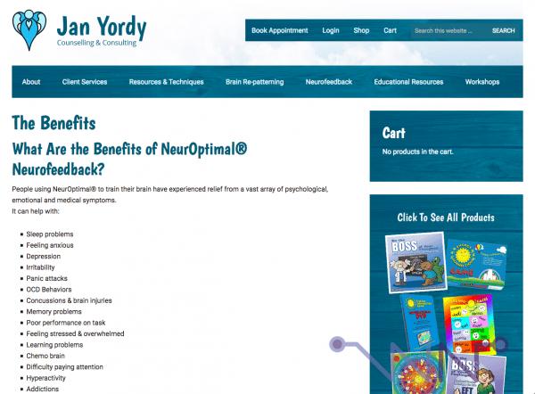 NeurOptimal va vous sauver de toutes les maladies (site web de Jan Yordy)